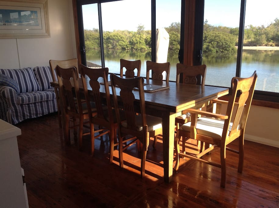 Eat in kitchen with views overlooking the creek