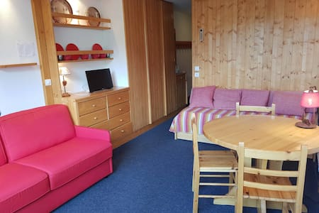 Studio for 3 persons in Arc 1600 center close to the slopes