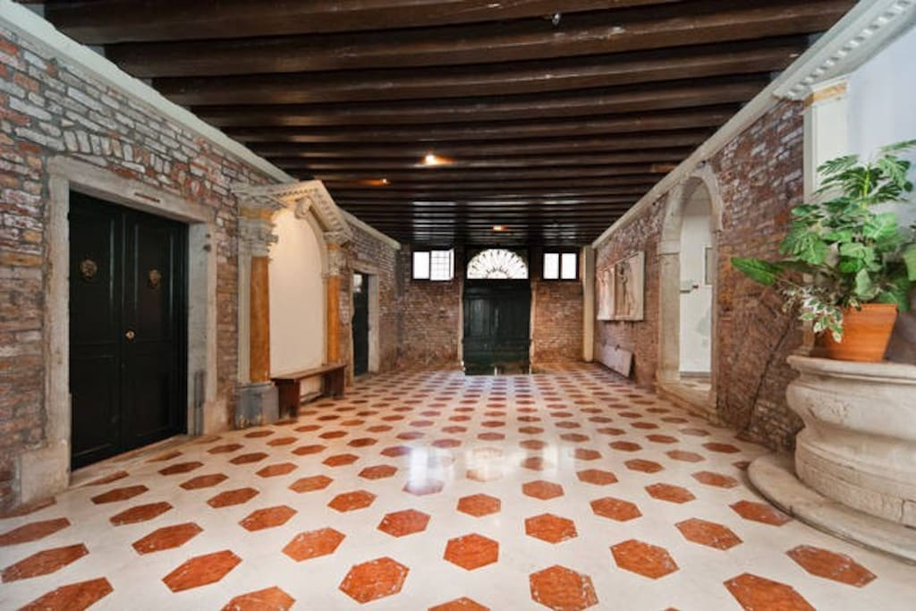 Marble floor entrance to the Palazzo.