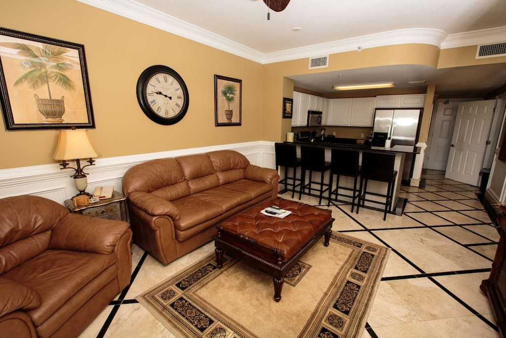 Better look at the leather furniture and pull out queen sleeper sofa