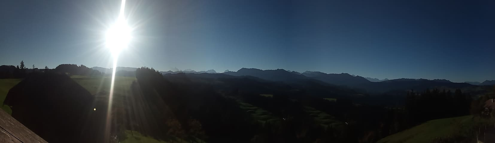 Panorama am Morgen