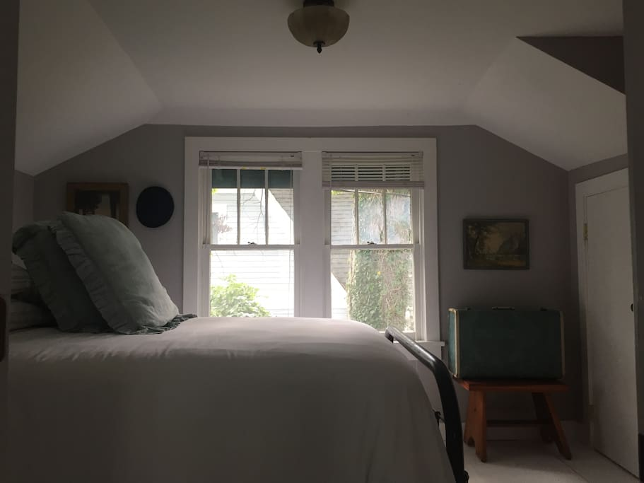 Private Bedroom | Located upstairs with an accommodating private bathroom, closet storage, and more.