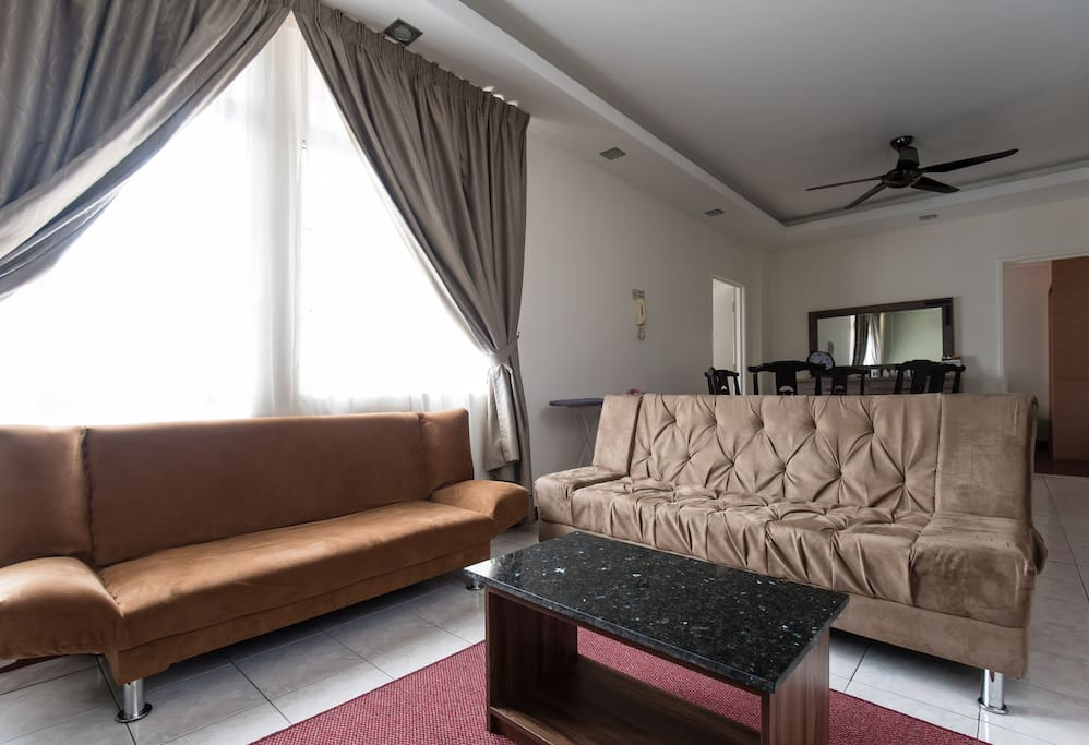 Living area with two sofabed