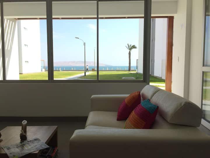 Departamento con vista al mar en Paracas