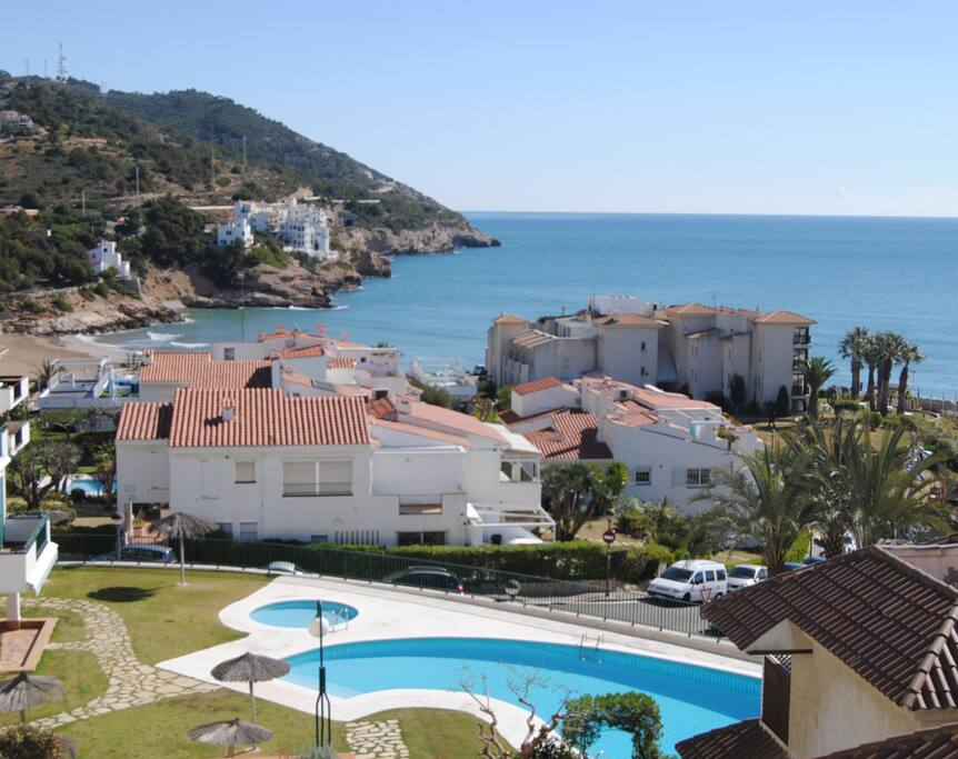 sea views and communal pool