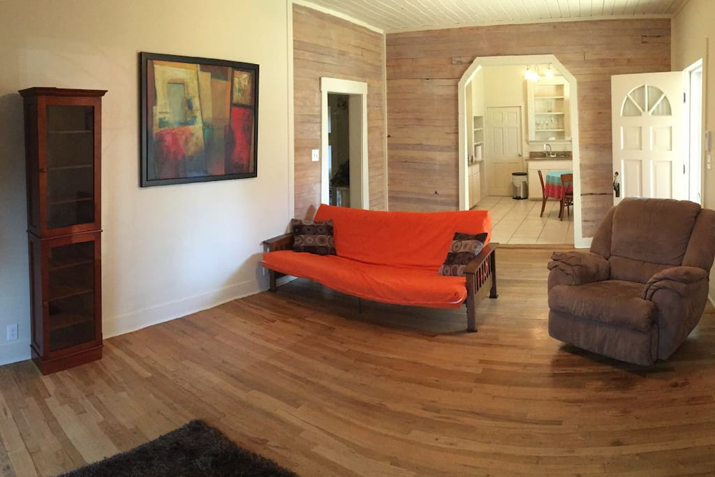 1930's hardwood floors in this Historic District suite. Lots of room to spread out.