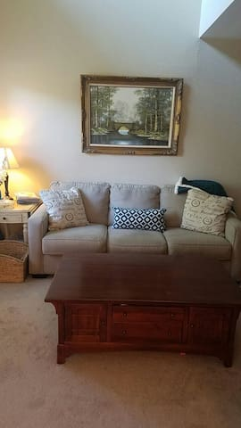 Quiet Large one bedroom  townhouse, 6 day min