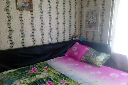 Квартира с большой кроватью на двоих.