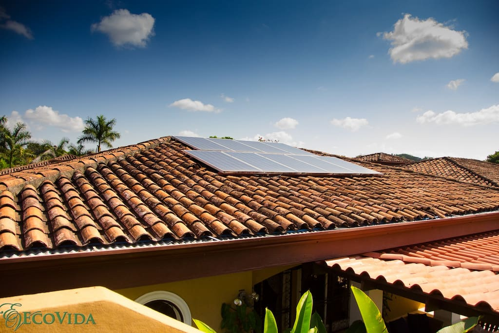 Solar power with a battery back-up
