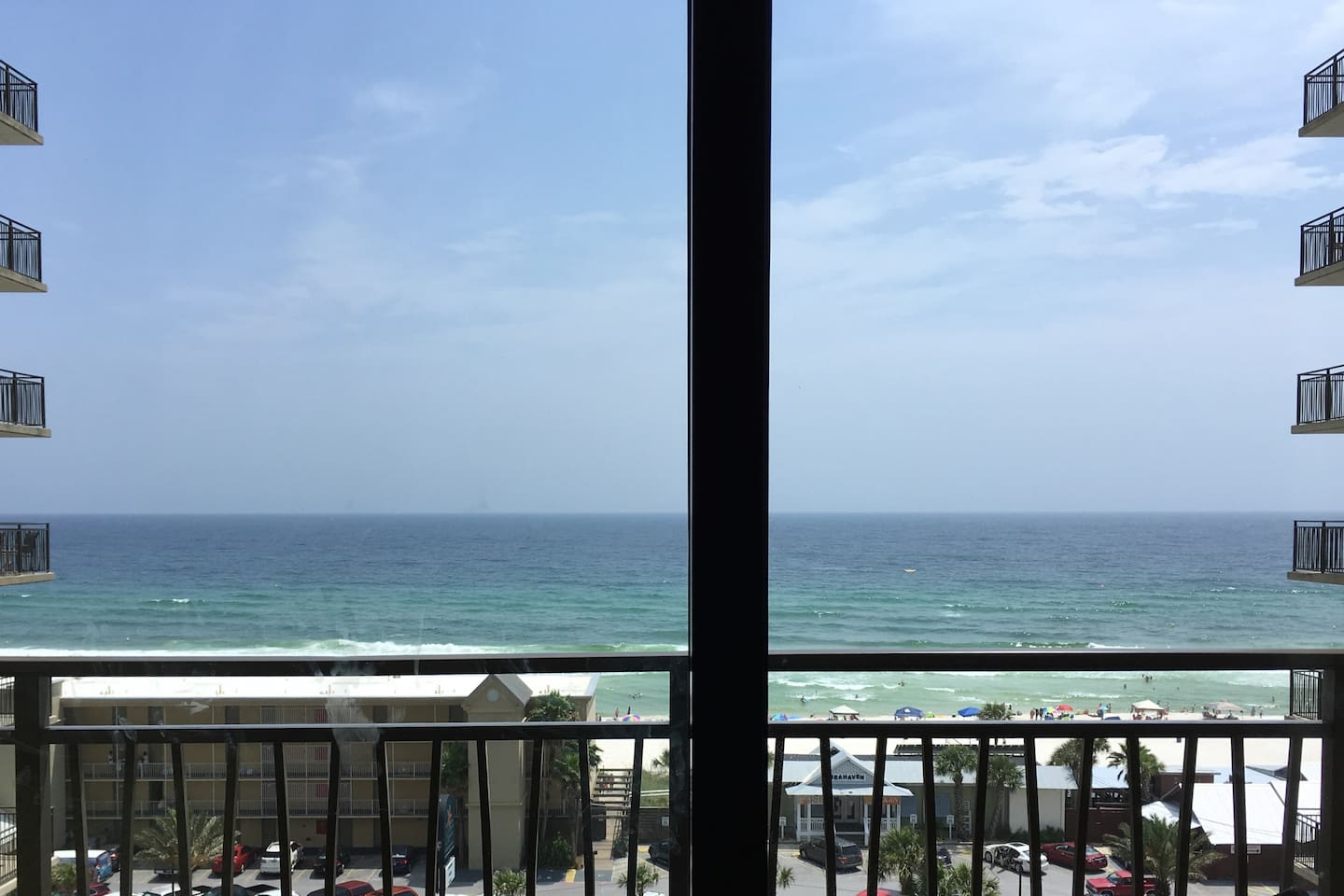 Have coffee on the balcony with this killer view of the water!