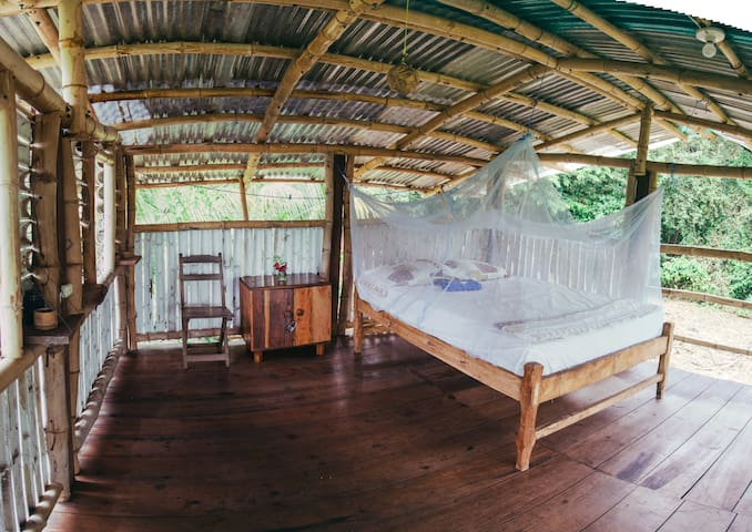 Private cabina in Ometepe jungle guesthouse.