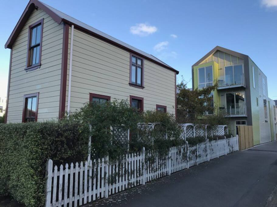 1880 townhouse and the new - 2017 - neighbours (Wellington City Studio)