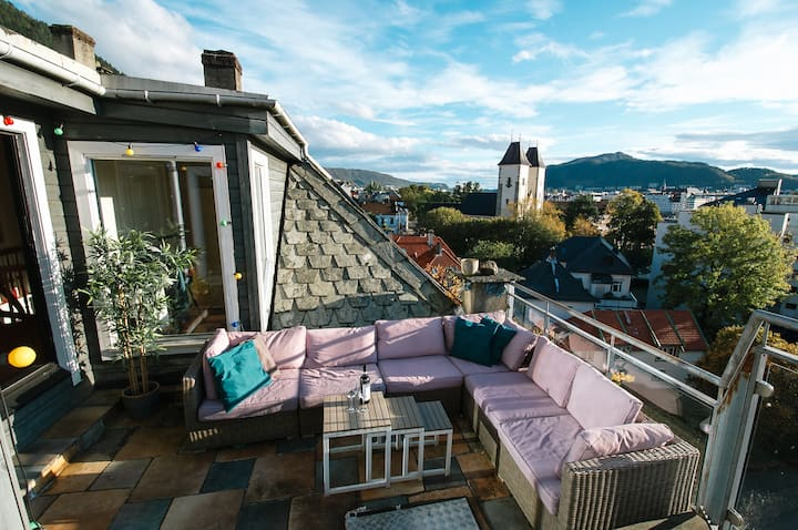 Bergen Penthouse with amazing terrace