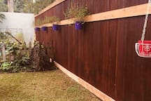 New 8 foot privacy fence for great security.