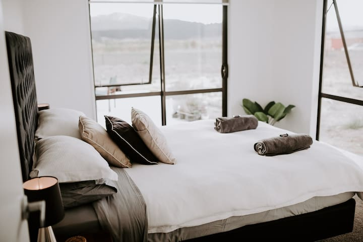The most comfortable bed in the area with panoramic mountain views.