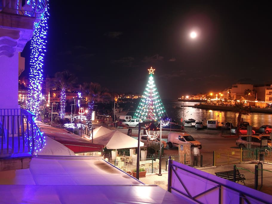 Christmas time, picture from balcony.