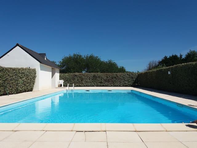 T2 à Erdeven (Kerhillio) avec piscine
