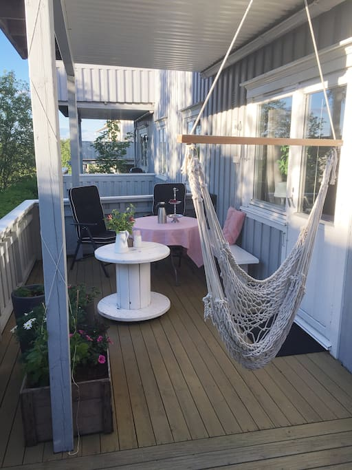 Balcony perfect for late summer evenings