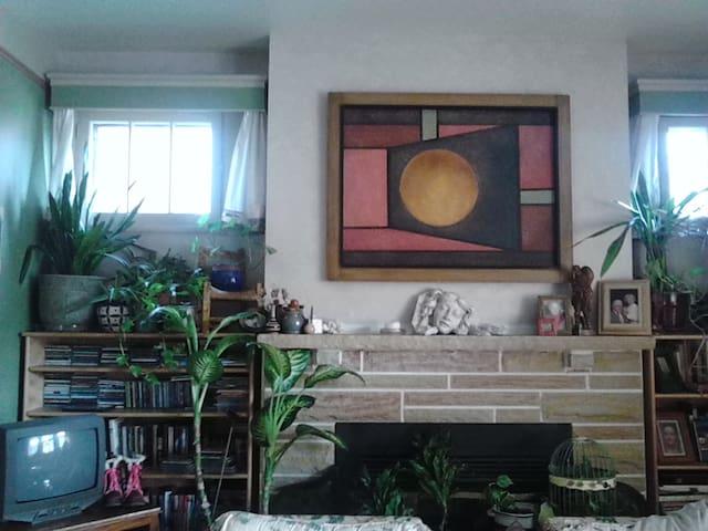 Artist's creative cozy home
