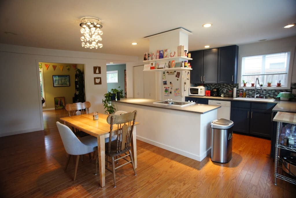 Shared kitchen and dining area.