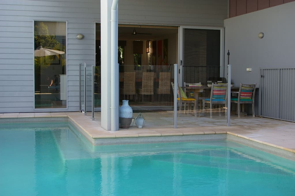 Enjoy a relaxing evening on the BBQ area/pool surround