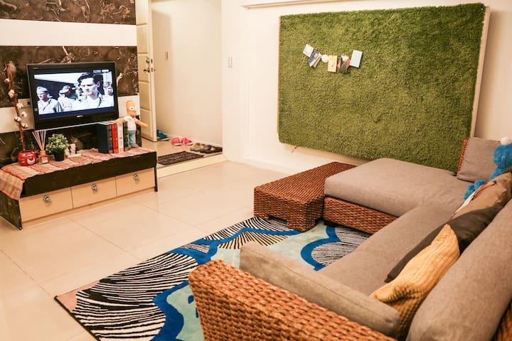 台北 東區 da'an 5 mins to 忠孝敦化MRT 101 信義商圈 cozy apt 單人 - Songshan District - Appartement