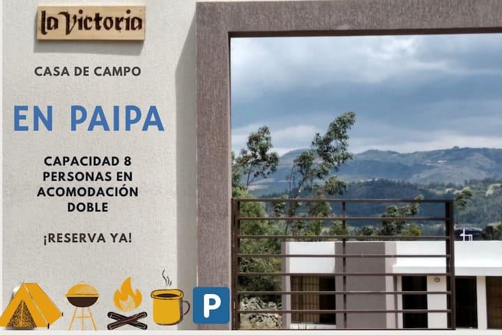 Casa de Campo La Victoria-Pantano de Vargas Paipa