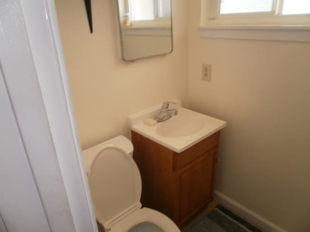 1/2 bath attached to your room