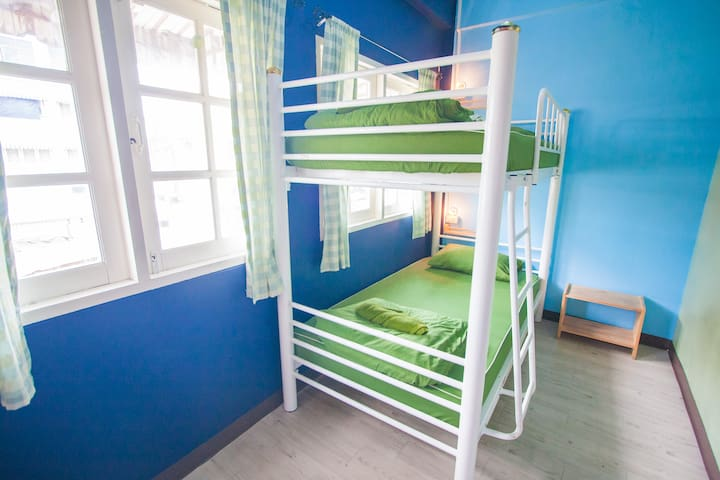 Two Bed Mix Dormitory with Canal views In Khao San