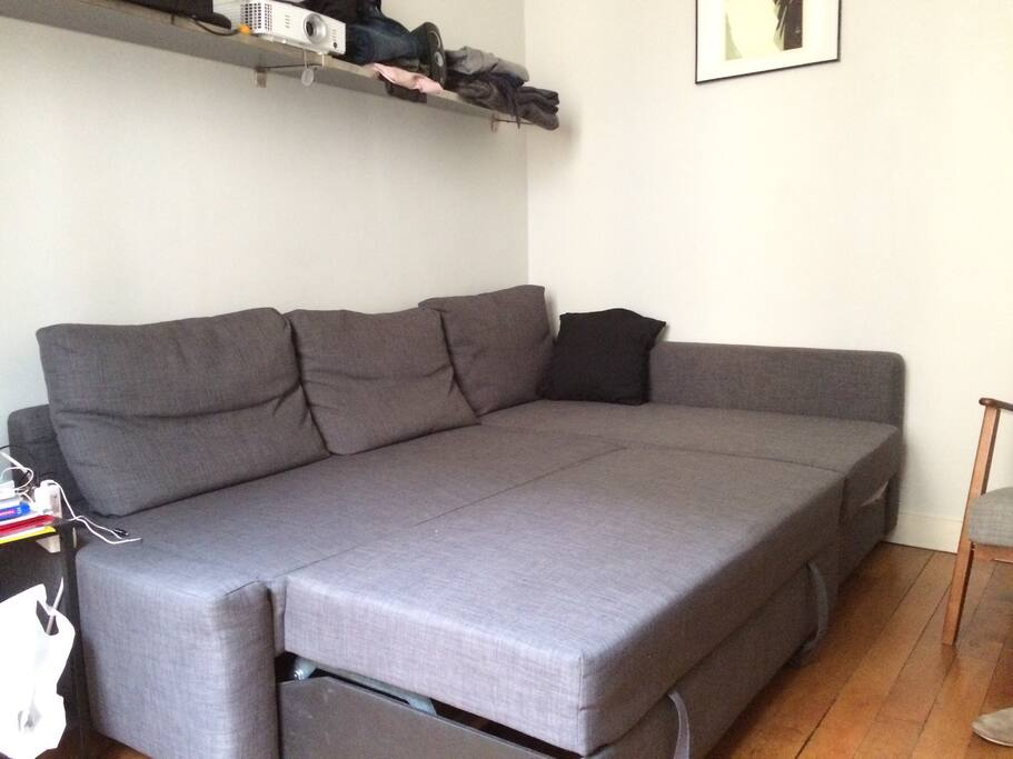 Sofa can be also a big bed