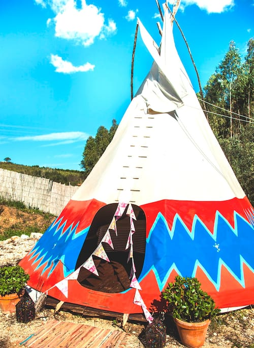 Front View of outside of Tipi