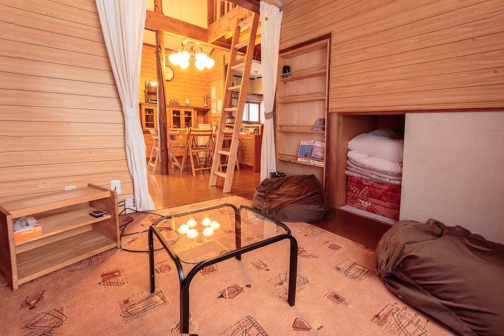 Lounge room that can sleep 2