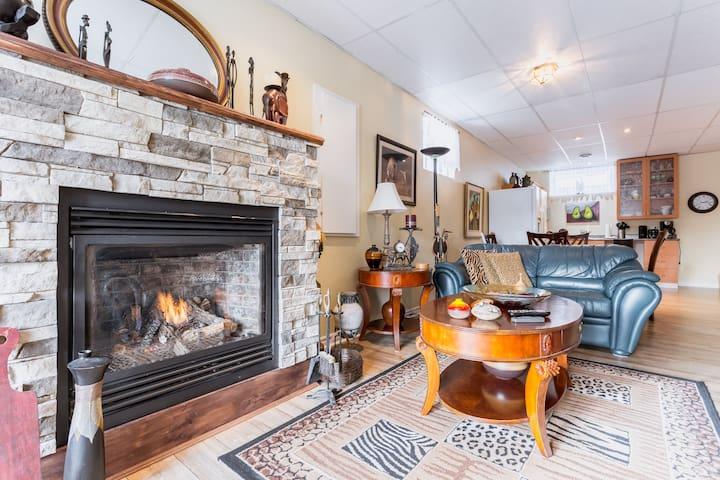 1 bedroom apartment gaz fireplace