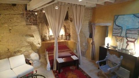 Entire Private Troglodyte loft apartment