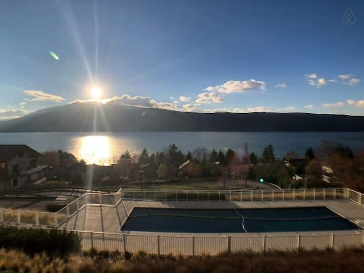 Roc & Lac - Terrasse vue lac, piscine et parking!