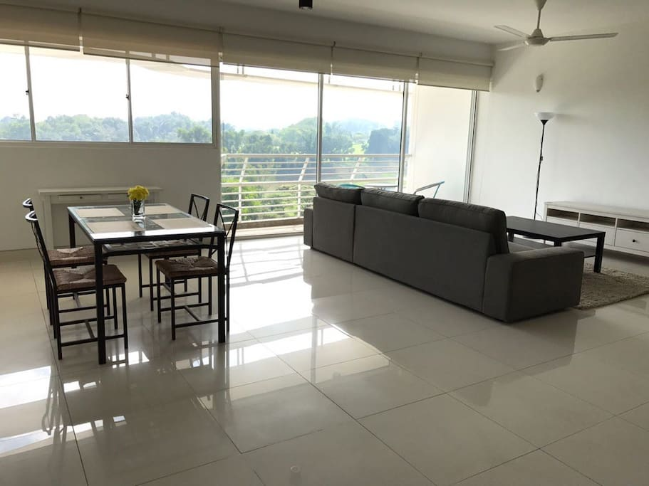 Spacious living and dining area with Forest and Golf View