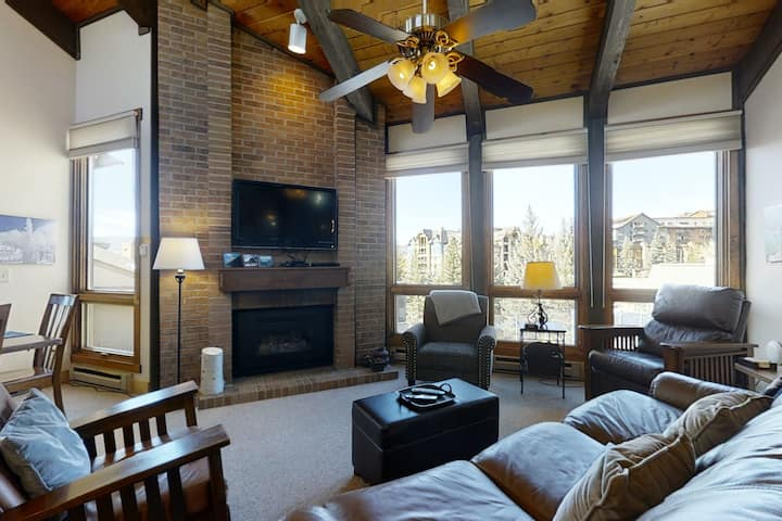 Mountain Condo Near Steamboat Lifts w/Shared Pool/Hot Tubs/Private Washer/Dryer!