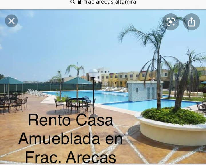 Casa Amueblada Frac. Arecas en Altamira Tamaulipas