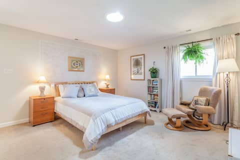 Sunny guest suite in beautiful rural setting.