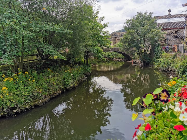 Unique riverside home  on the canal & Pennine Way