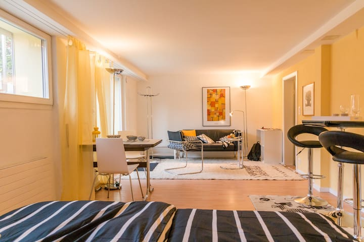 Quiet stylish garden apartment 10 min from center - Muri bei Bern - Apartamento