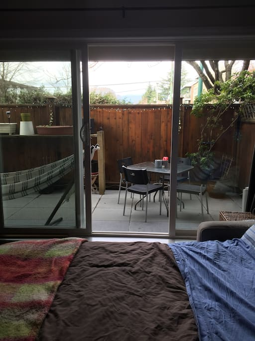 View onto Patio April 2018