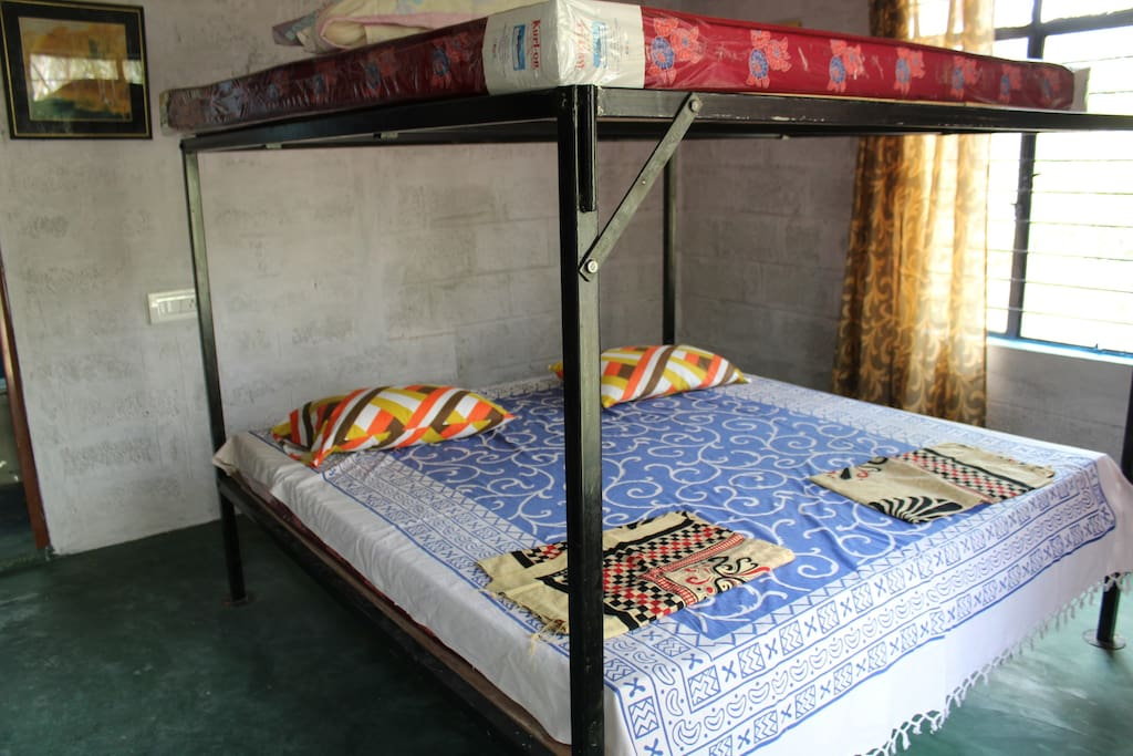 each room has a double bunk bed to sleep 4 with attached bathroom