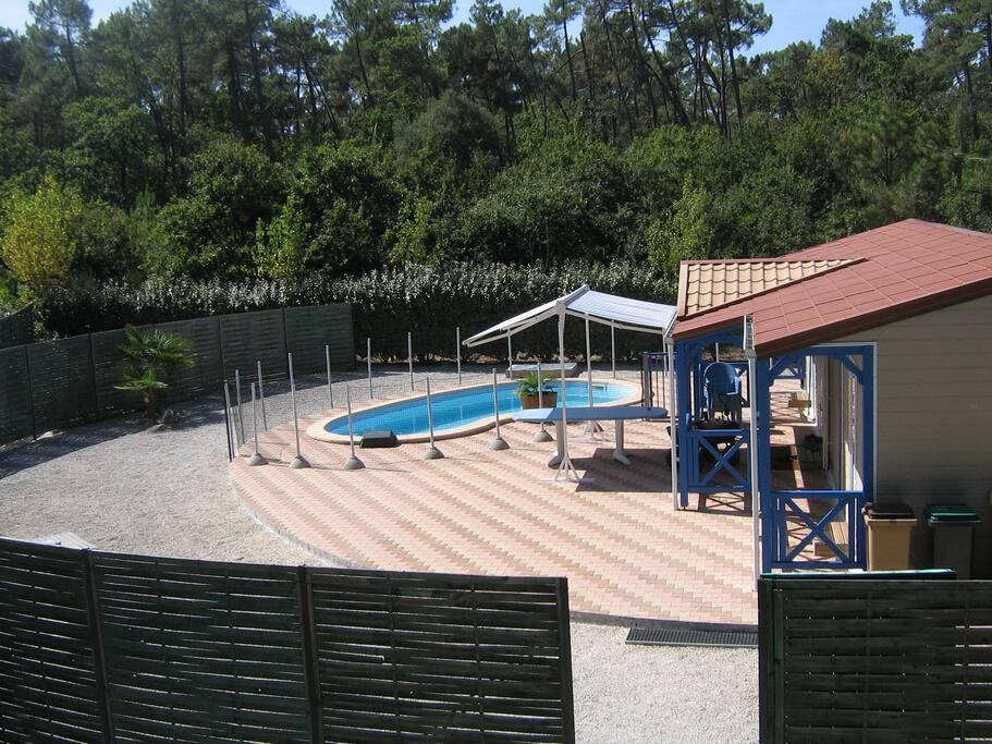 Soulac mer l 39 oc an chalet 8 pers piscine priv e - Chalet avec piscine privee ...