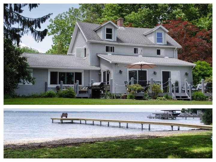 Spacious 5 BR Lakefront Home on The Wine Trail!!