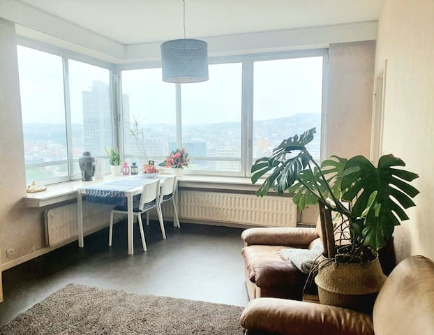 Lovely room for 2 persons with nice view in Liege