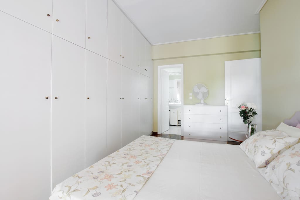 Master bedroom wall closets and drawers