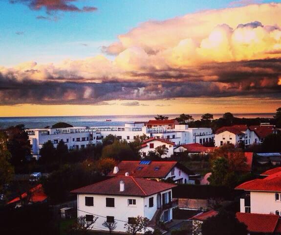 Appartement vue dégagée océan forêt