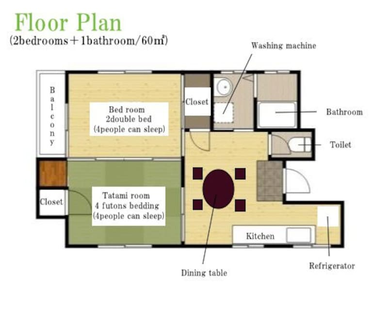 30sec to peacepark up2 8 specious 2bed room wi fi for Apartment wifi plans