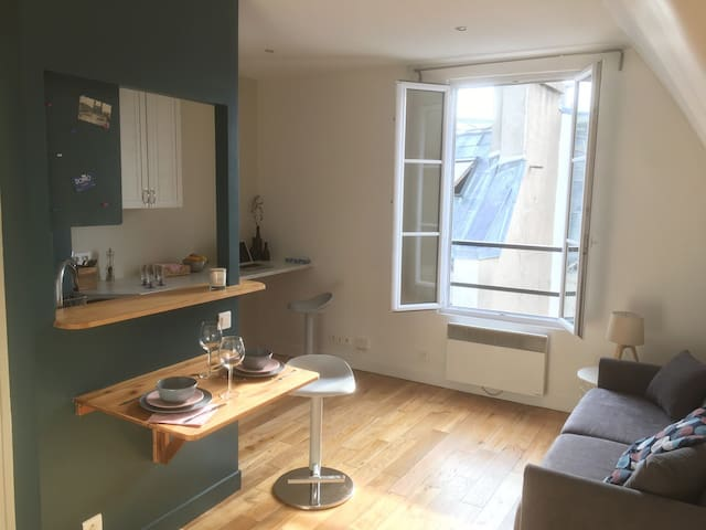Charming studio flat under the roofs of Paris 10th